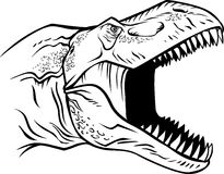 Pista de T-rex stock de ilustración