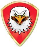 Pista del águila con el blindaje de la armería ilustración del vector