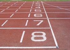Pista del atletismo Fotos de archivo