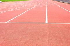 Pista del atletismo fotografía de archivo
