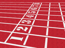 Pista del atletismo ilustración del vector