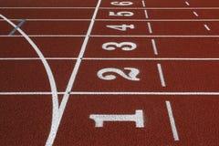 Pista del atletismo imágenes de archivo libres de regalías