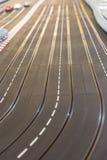 Pista del coche de carreras del juguete Imagen de archivo
