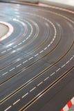 Pista del coche de carreras del juguete Fotografía de archivo