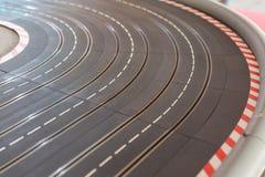Pista del coche de carreras del juguete Foto de archivo