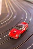 Pista del coche de carreras del juguete Imágenes de archivo libres de regalías