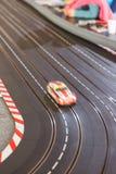Pista del coche de carreras del juguete Imagen de archivo libre de regalías