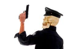 Pista del cráneo del oficial de policía Imagen de archivo libre de regalías