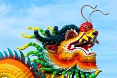 Pista del dragón en el templo de la azotea Fotografía de archivo libre de regalías