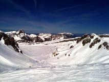 Pista del esquí Foto de archivo libre de regalías