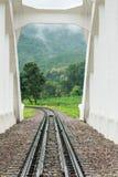 Pista del ferrocarril, efecto miniatura Fotografía de archivo libre de regalías