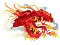 Pista del fuego del dragón ilustración del vector