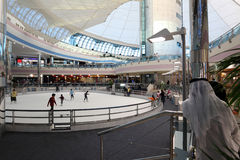 Pista del patín de la alameda del puerto deportivo en Abu Dhabi Fotos de archivo libres de regalías