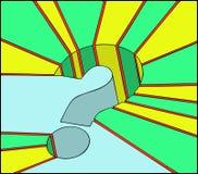 Pista del signo de interrogación Ilustración del Vector