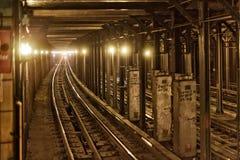 Pista del subterráneo Imagen de archivo