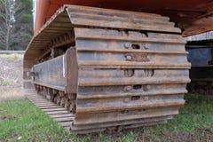 Pista del tractor del metal Imágenes de archivo libres de regalías