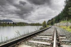 Pista del tren de ferrocarril Foto de archivo libre de regalías