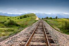 Pista del tren Fotografía de archivo