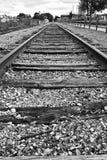 Pista del treno ad in nessun posto immagine stock