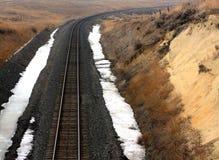 Pista del treno del Wyoming Fotografia Stock