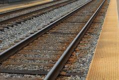 Pista del treno a Rockville, Maryland S.U.A. Fotografia Stock