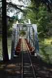 Pista del treno sopra il ponte Immagini Stock Libere da Diritti