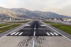 Pista dell'aeroporto di Burbank Fotografia Stock