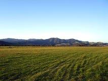 Pista dell'aeroporto di Okiwi, Nuova Zelanda Fotografie Stock