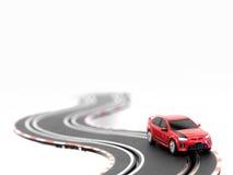 Pista dell'automobile di scanalatura Fotografia Stock