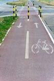 Pista della bicicletta fotografia stock