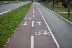 Pista della bicicletta immagine stock libera da diritti