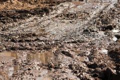 Pista della strada del fango Immagini Stock