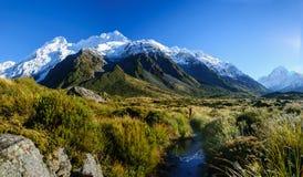 Pista della valle della puttana, cuoco del supporto, Nuova Zelanda Fotografia Stock