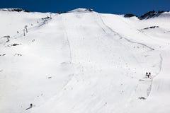 Pista dello sci del ghiacciaio di Molltaler, Carinzia, Austria Immagini Stock Libere da Diritti