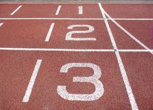 Pista di atletismo Fotografia Stock Libera da Diritti