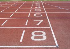 Pista di atletismo Fotografie Stock