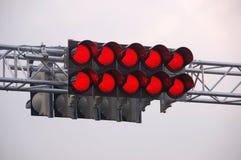 Pista di corsa che inizia gli indicatori luminosi Fotografia Stock