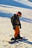 Pista di corsa con gli sci nelle alpi svizzere Fotografia Stock