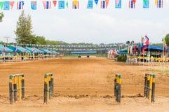 Pista di corsa della Buffalo in Tailandia Fotografia Stock