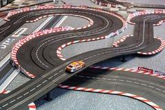Pista di corsa di corsa di automobile della scanalatura Fotografie Stock