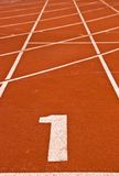 Pista di corsa di numero uno Fotografie Stock