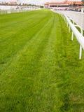 Pista di corso di corsa del cavallo Fotografie Stock Libere da Diritti