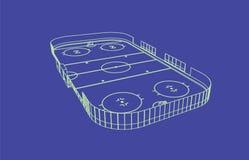 Pista di pattinaggio del hockey su ghiaccio Fotografia Stock Libera da Diritti