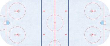 Pista di pattinaggio del hockey su ghiaccio - NHL di regolamento Fotografia Stock
