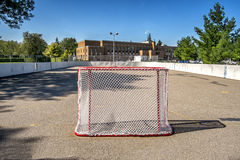 Pista di pattinaggio del hockey su pista Fotografia Stock