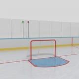Pista di pattinaggio del hokey di ghiaccio illustrazione vettoriale
