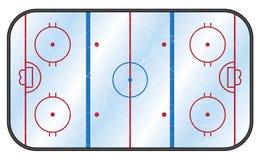 Pista di pattinaggio dell'hockey su ghiaccio Fotografia Stock Libera da Diritti