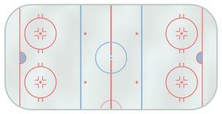 Pista di pattinaggio di hokey di ghiaccio Fotografia Stock