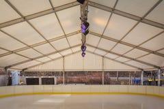 Pista di pattinaggio sul ghiaccio Fotografia Stock Libera da Diritti