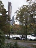 Pista di pattinaggio sul ghiaccio al Central Park New York Fotografia Stock